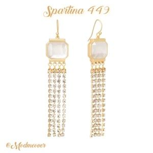 Spartina 449 NEW Pearlescent Gold Fringe Earrings